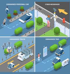Autonomous cars design concept vector