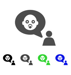 Baby thinking person icon vector