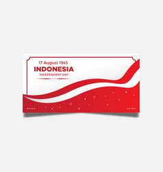 Background indonesian independence day vector