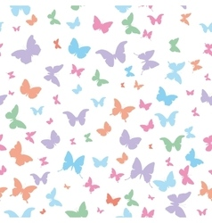 butterflies pink lilac blue green isolated vector image