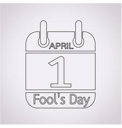 calendar of april fools day icon vector image