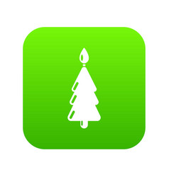 candle christmas icon simple black style vector image