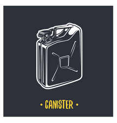 canister vector image