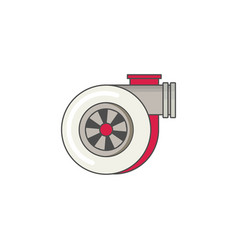 car turbo flat icon vector image
