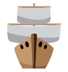 Cartoon boat vector