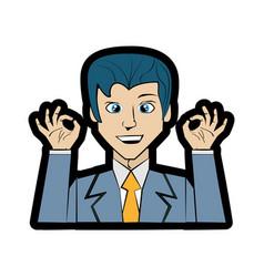 Cartoon man character imagen vector