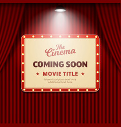 Cinema movie coming soon banner promotion design vector
