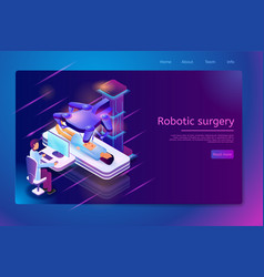 Clinic with future technologies web banner vector
