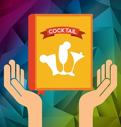cocktail recipe book vector image