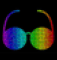 Colored dot spectacles icon vector