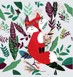 Cute doodle chicken or bird seamless pattern vector