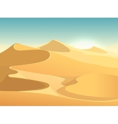 Desert dunes egyptian landscape background vector image