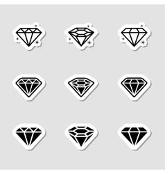 Diamond Icons Set as Labes vector