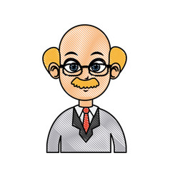 drawing portrait doctor man character image vector image