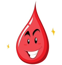 Drop of blood with happy face vector