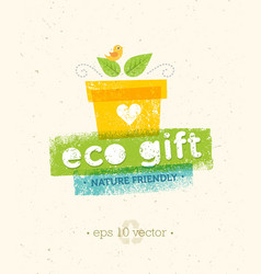Eco gift nature friendly concept on vector
