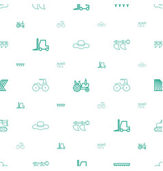Farmer icons pattern seamless white background vector