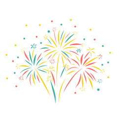Firework hand drawn isolated vector