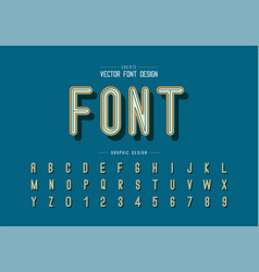 Font and alphabet modern letter design and vector