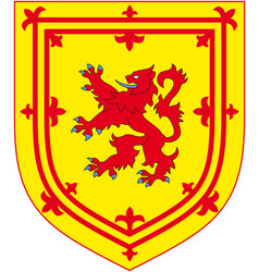 former official royal coat of arms of scotland vector image