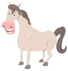 funny horse farm animal vector image