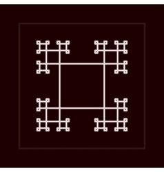 Geometric fractal frame vector