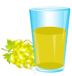 Glass of grape juice vector