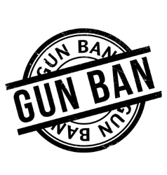 Gun Ban rubber stamp vector