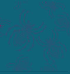 Halloween spider background seamless vector
