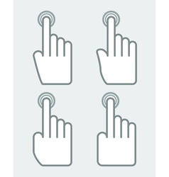 Hand with pointing finger vector