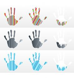 handprint collection vector image vector image