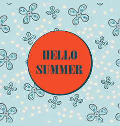 hello summer sale card vector image