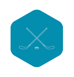 Hockey icon outline style vector