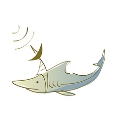Icon shark vector