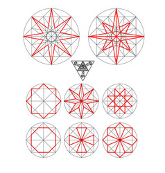 Impossible geometry symbols set vector