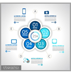 Infographics background to display your data vector image