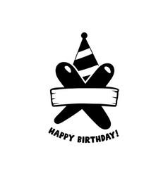 initial birthday x letter happy birthday monogram vector image