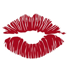 kiss lips vector image