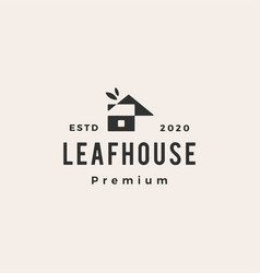 leaf house home mortgage roof architect hipster vector image