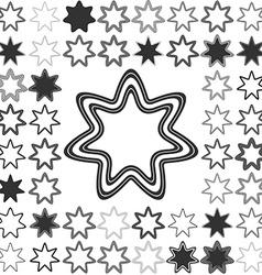Line star logo design set vector