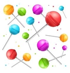 Lollipop Sugar Candy Background vector