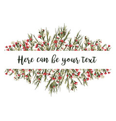 lovely wishes floral design frame white and red vector image