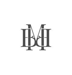M b letter logo lettermark mb monogram typeface vector