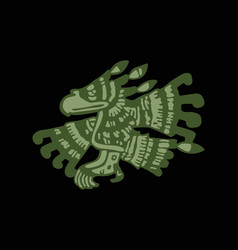 mayan art religious symbol ancient indians vector image