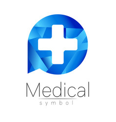 Medical sign with cross symbol for doctors vector