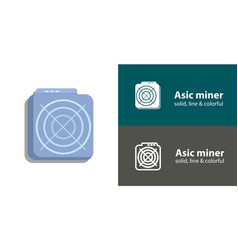 Mining asic device isolated flat icon vector