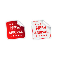 New arrival stickers on white background vector
