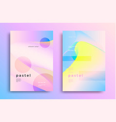 Pastel gradient covers vector