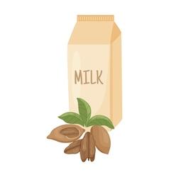 Pecan milk vector