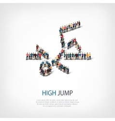 people sports high jump vector image